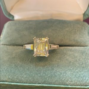 Cz silver ring